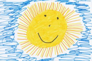 child's drawing sun